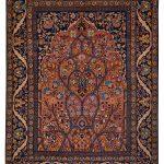 فرش تبریز طرح محرابی تمام پشم (آنتیک بیش از صد سال قدمت)